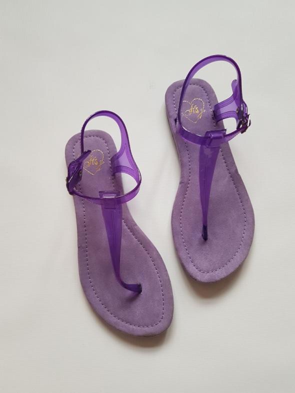 Fioletowe Sandały Japonki Meliski