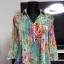 kolorowa tunika w kwiaty Leardini...