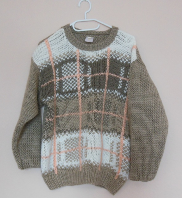C&A beżowy sweter wzory 40 42...