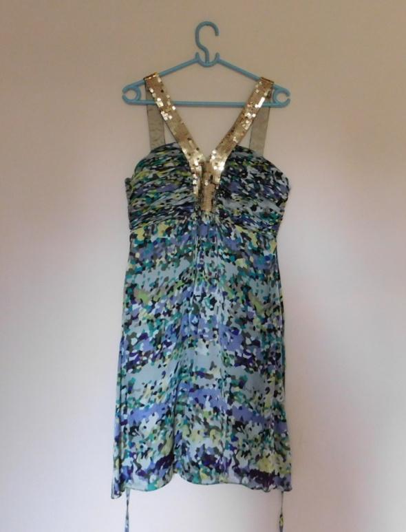 Coast sukienka mini kolorowa jedwab 44...