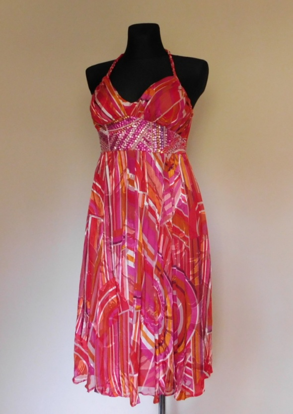 Debenhams sukienka różowa jedwab 38...