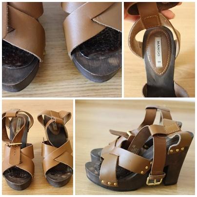 Skórzane sandały mango 38
