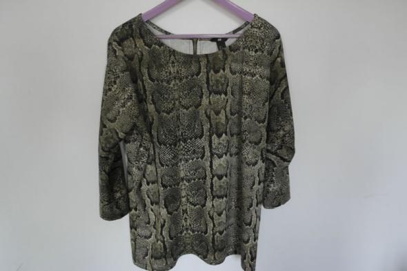 H&M wężowa bluzeczka z zamkiem na plecach L