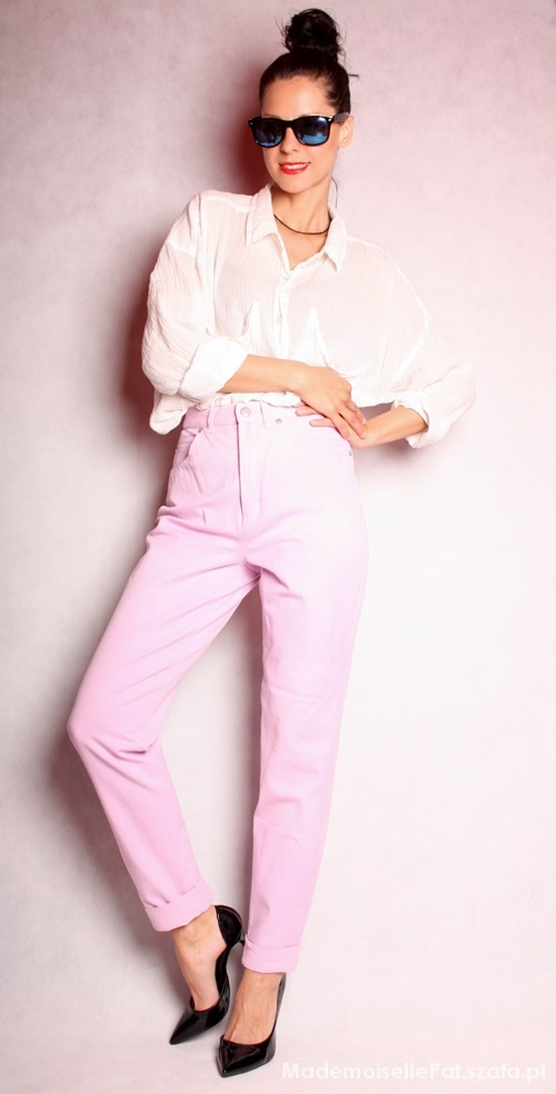 Blado różowe spodnie Marc Cain...