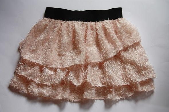 H&M spódniczka pudrowa mini fluffy flbanki 36 S