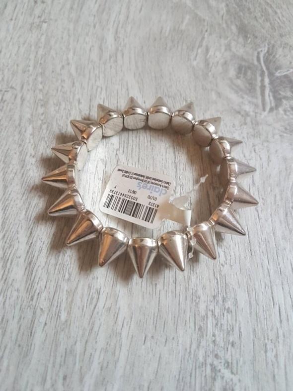 Claires bransoletka z ćwiekami nowa srebrna