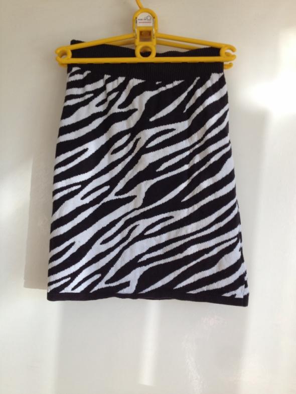 Zebra spódnica zimowa bawełniana elastyczna XS S M