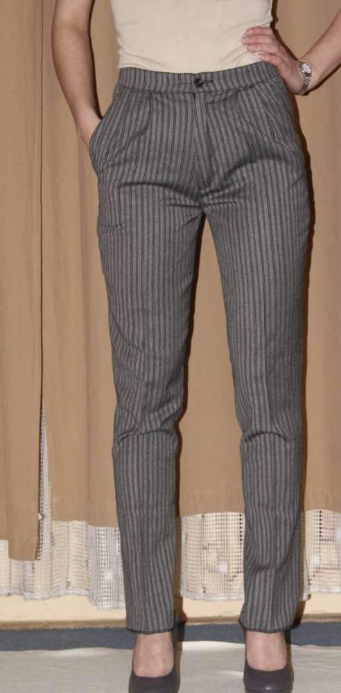 Eleganckie spodnie szare mysie s