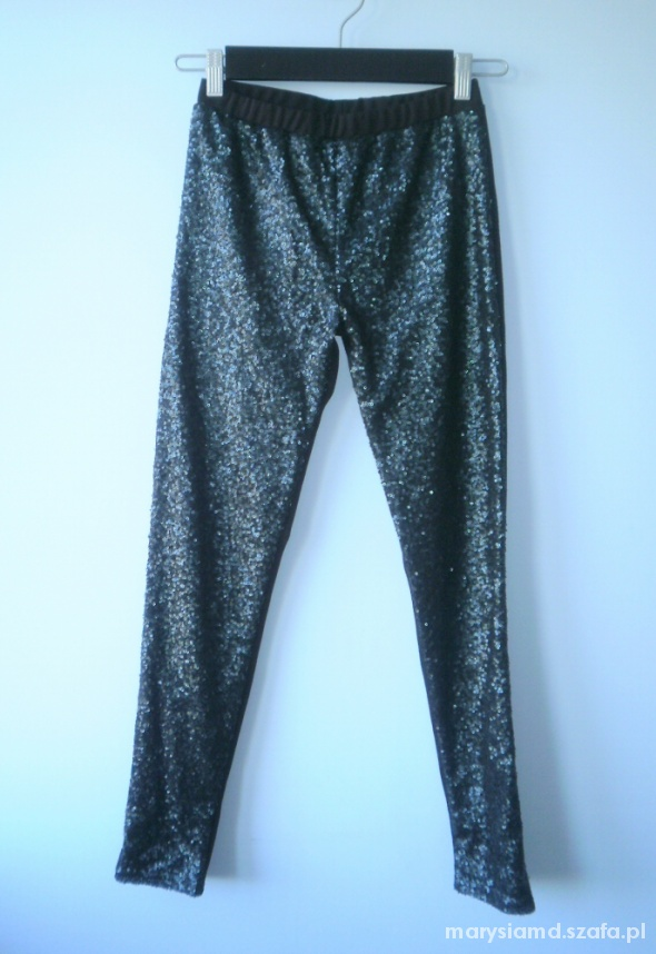 Asobio cekinowe spodnie legginsy cekiny