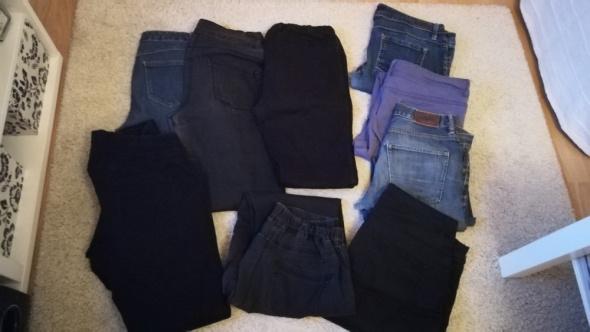 Spodnie jeansowe na przeróbki 9 szt