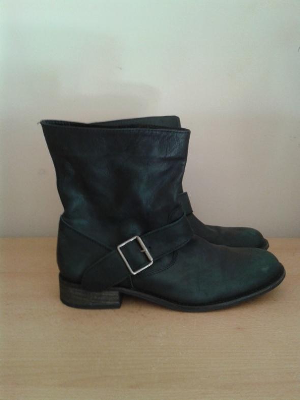 96a99d7fd65c9 Botki Czarne botki Zara Trf małe 38 skóra naturalna jak nowe na wąską stopę