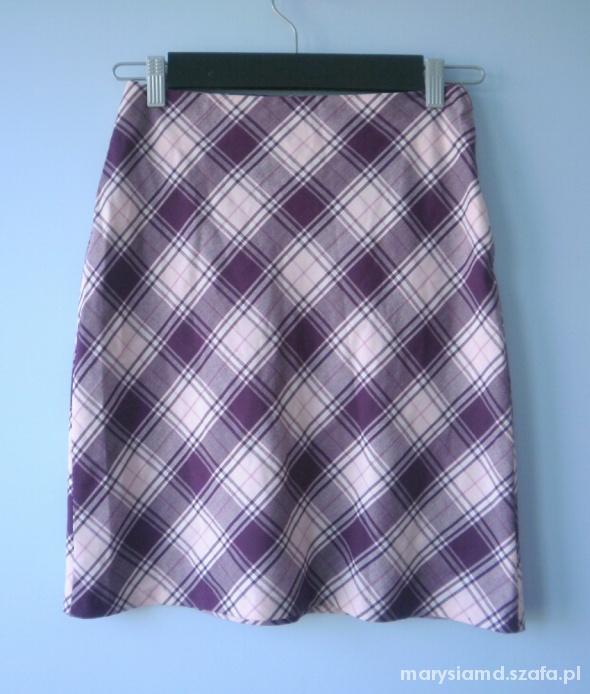 Zophie spódnica w kratkę różowa