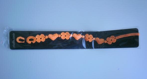 neonowa bransoletka sznurkowa pomaranczowa neon