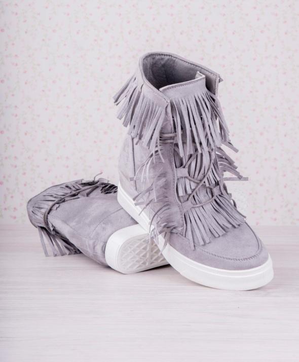 szare sneakersy fredzle koturny botki