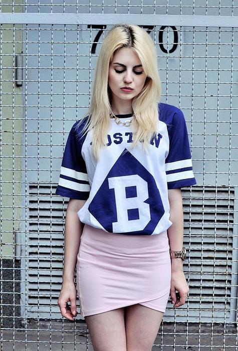 Bluzka Tunika H&M motyw Boston B rozmiar XS