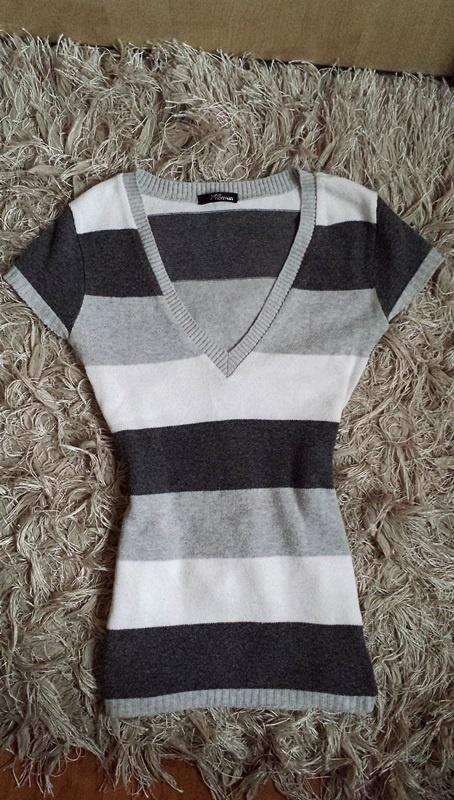Sweterek w paski pastelowa bluzeczka sweterkowa Jane Norman...