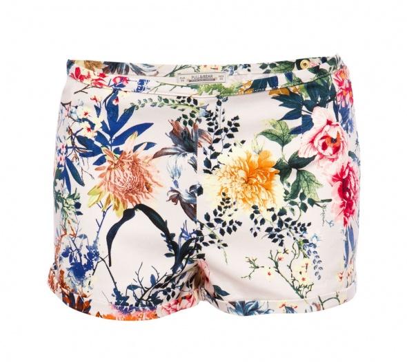 nowe eleganckie spodenki pull&bear floral print...