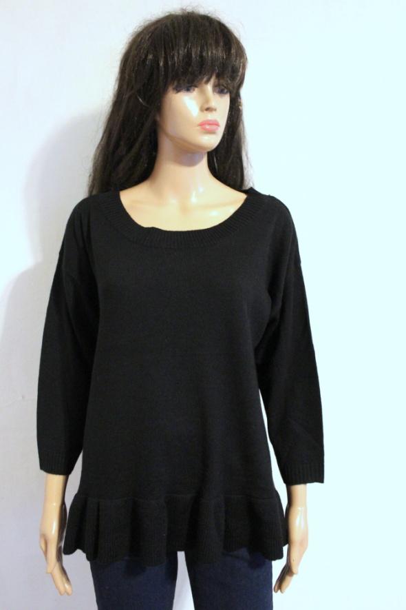 Czarny sweterek rękawki trzy czwarte r XL