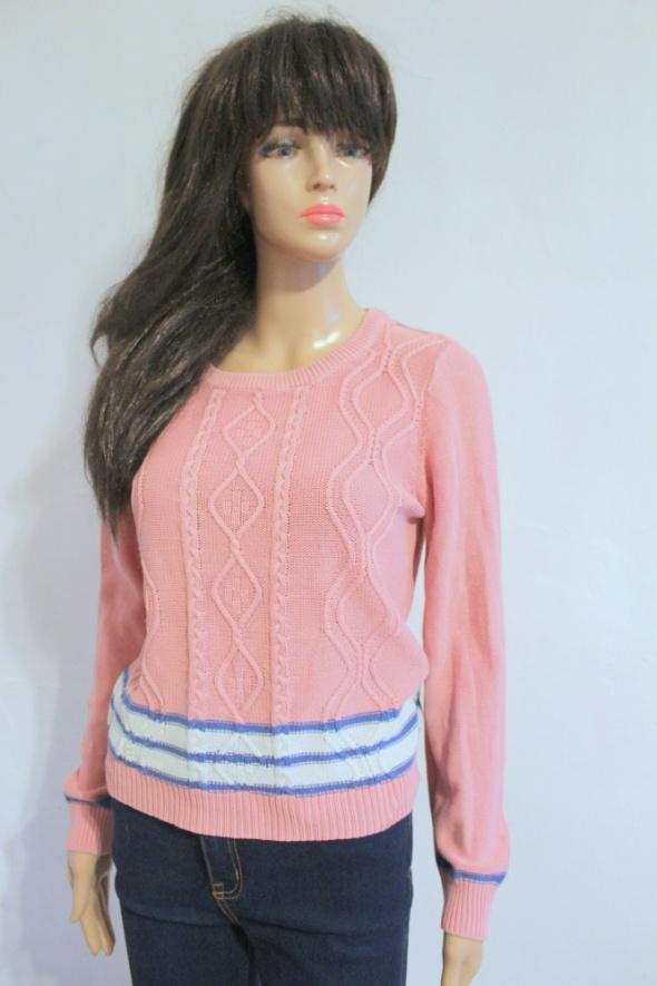 Różowy sweterek długi rękawek r S