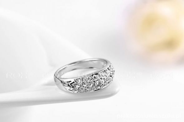 18kt piekna obrączka pierścionek