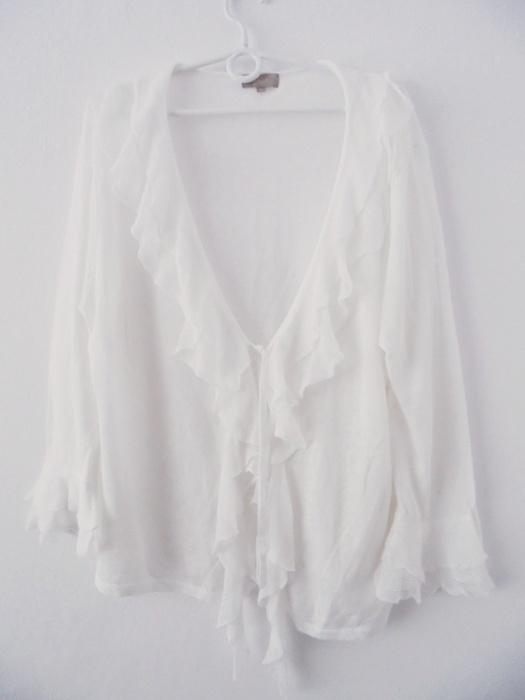 sweterek biały wiązany