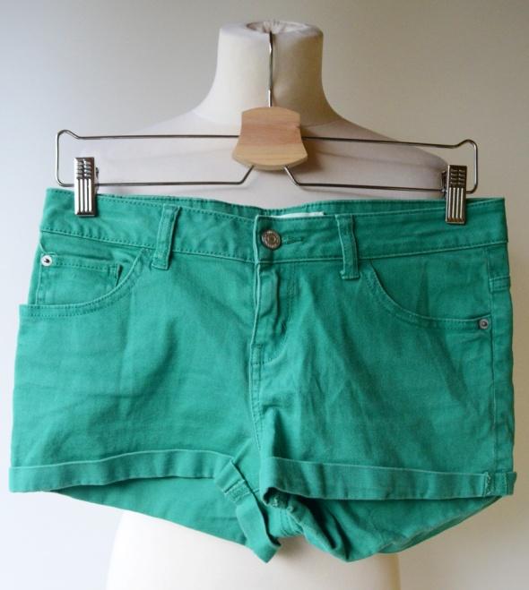 Spodenki Krótkie Zielone S 36 Gina Tricot Jeansowe