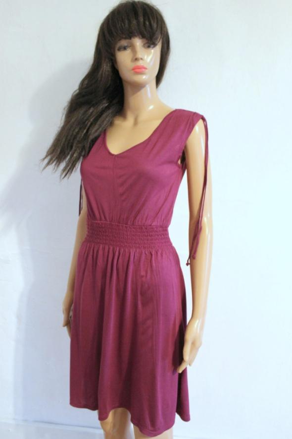 Fioletowa letnia sukienka r S...