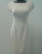 Prosta beżowa sukienka roz 42