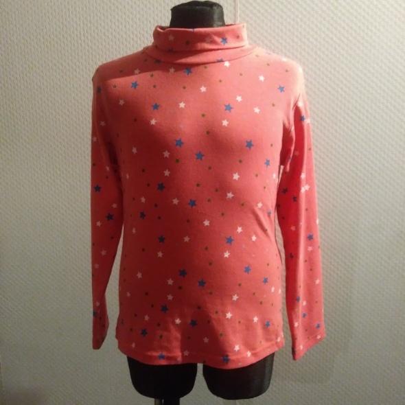 Bluzki Nowa bluzka golf 128 różowa w gwiazdki