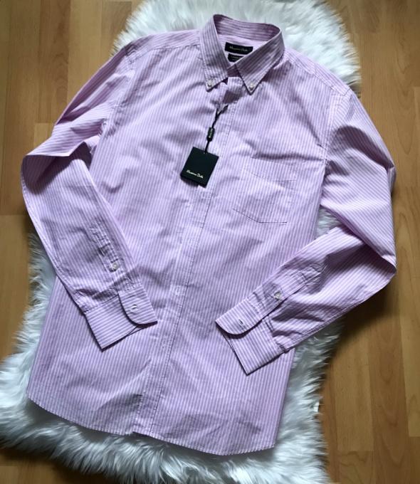 Męska koszula Nowa Massimo Dutti liliowa