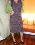 Sukienka brązowo brązowa...