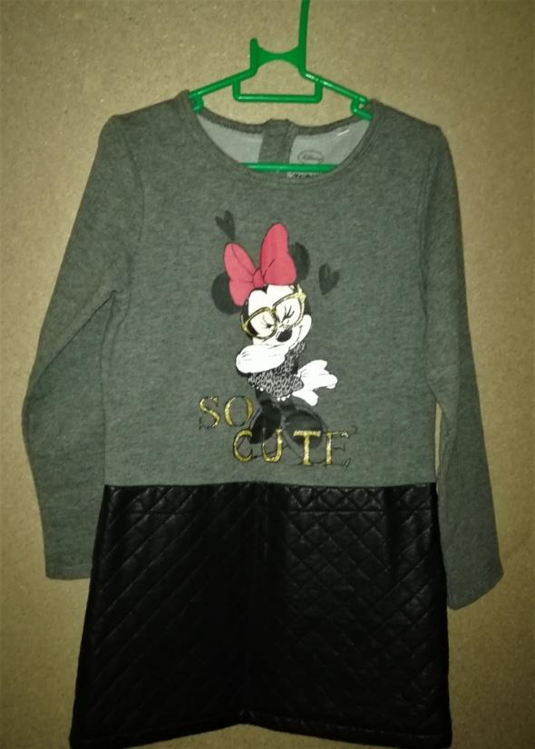 Disney Minnie Mouse Sukienka z eko skórą 116 cm 6 lat...