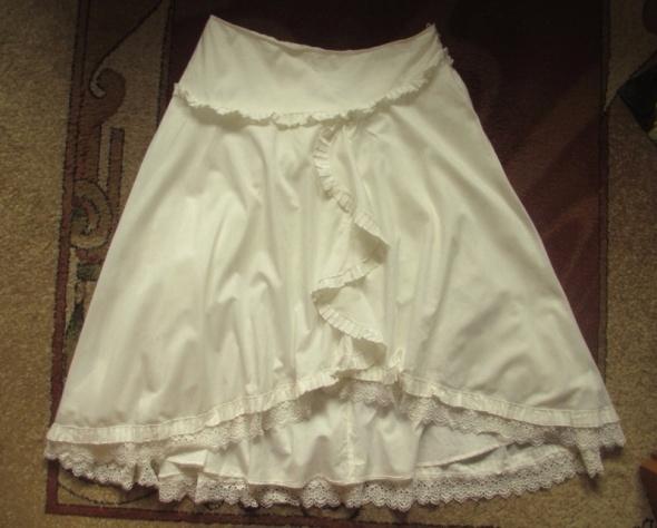 GEORGE jasnokremowa piękna spódnica na lato 4042