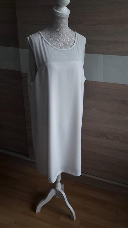 Biała sukienka z siateczką Reserved 42...