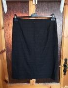 Elegancka ołówkowa spódnica Molton 44 w zieloną kratę...