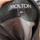 Elegancka ołówkowa spódnica Molton 44 w zieloną kratę