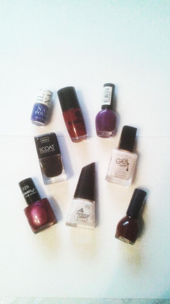 Zestaw 8 lakierów różne kolory Avon Manhattan Misslyn H&M Astor Wibo brokat perłowe