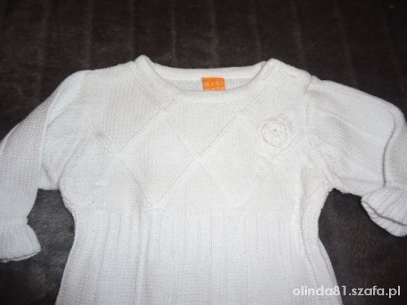 śliczna biała sukienka roz 74