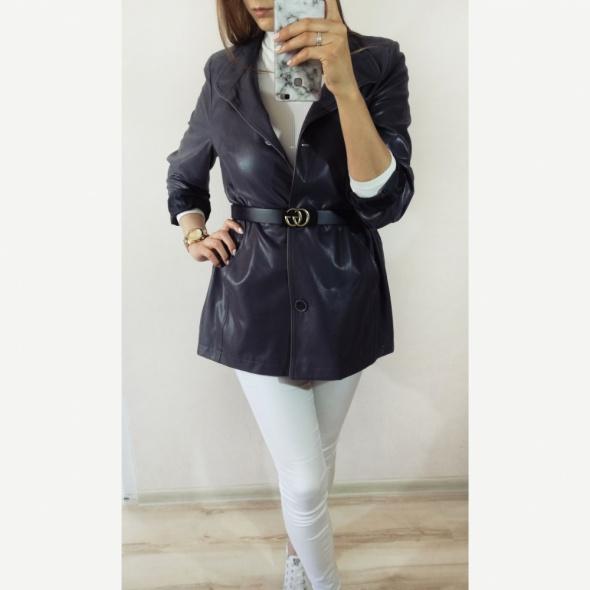 Wysoko jakościowy płaszcz płaszczyk szary Biba Styl
