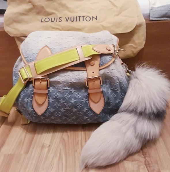 Torebki na co dzień Louis Vuitton Torba Sunrise GM BLUE OMBRE DENIM ORYGINAŁ RZADKI