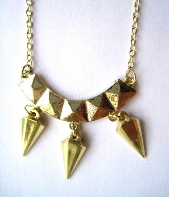 wisiorek łańcuszek zawieszka złoty trójkąt