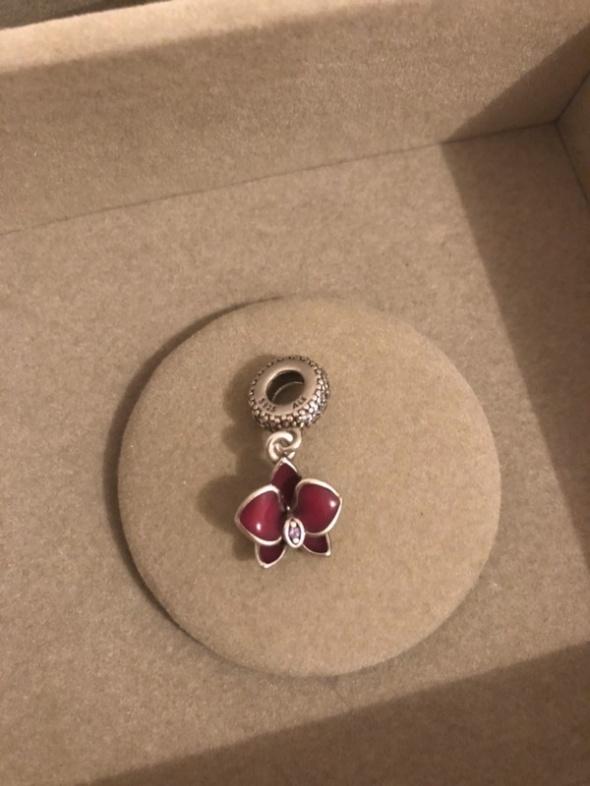 różowa orchidea zawieszka charms Pandora ALE S925
