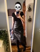 Skórzana ołówkowa spódnica z wysokim stanem prawdziwa skóra hig...