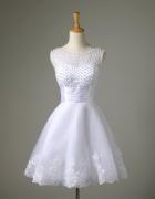 krótka suknia ślubna...