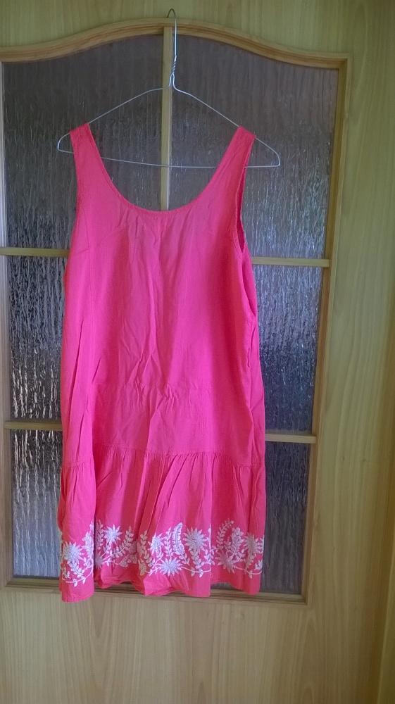 Sukienka Aeropostale fluo róż haft 40 42...