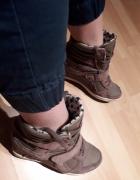 Sneakersy buty adidasy na koturnie sportowe...