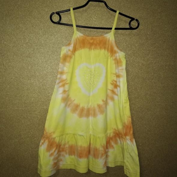 H&M Letnia bawełniana sukienka na ramiączkach 15 2 lata 92 cm