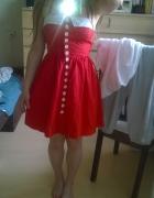 Asos sukienka pin up retro rozkloszowana