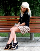 karmelowa spódniczka REVIEW...
