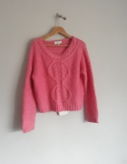Piękny sweter Next malinowy jak nowy S...